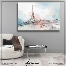 Blushing Paris Kanvas Tablo