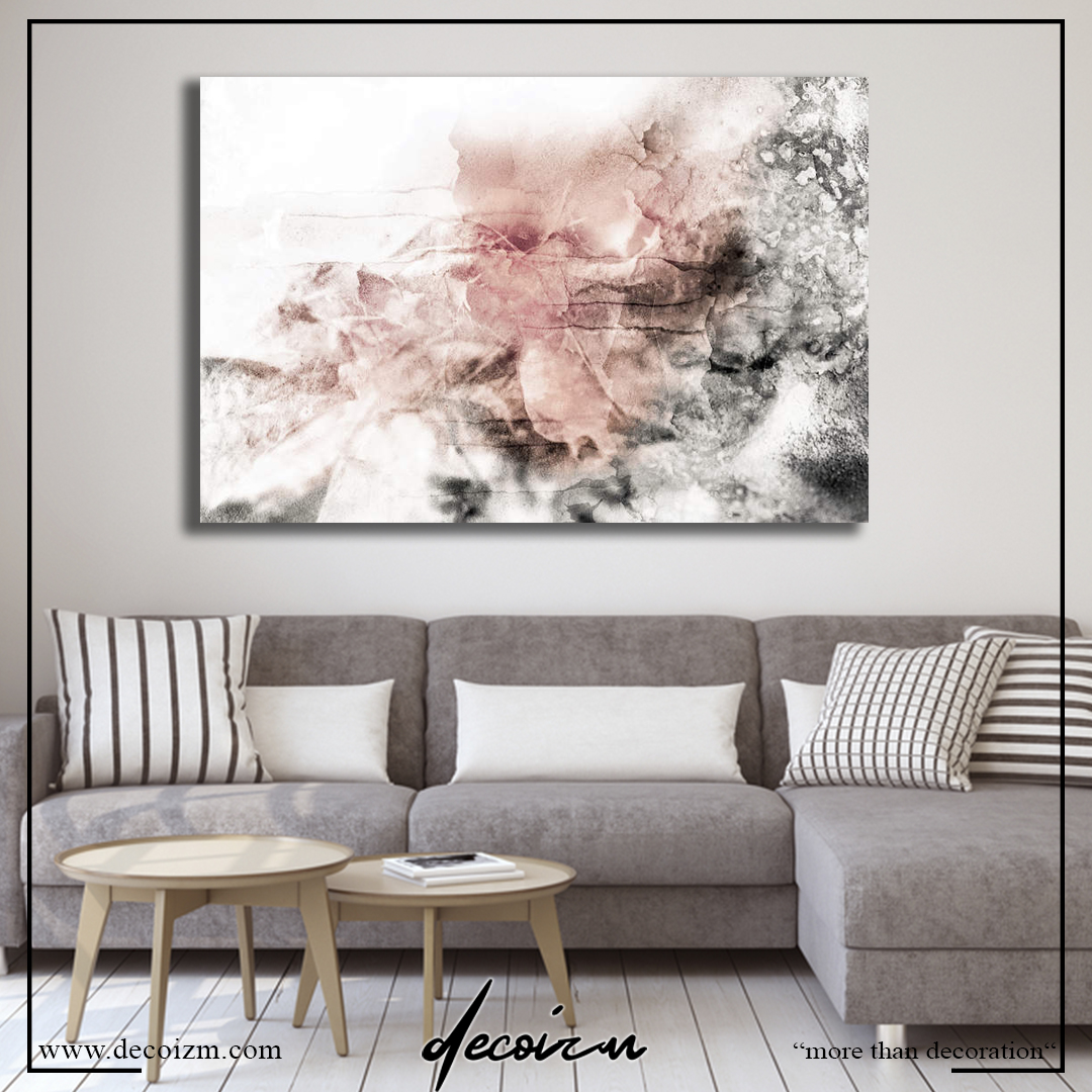 Abstract Rose Color Kanvas Tablo