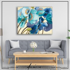 Le Pavots Bleu Canvas Tablo