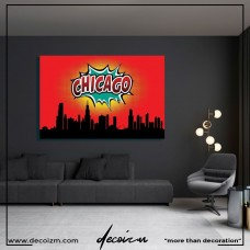 Pop Art Chicago Kanvas Tablo