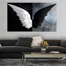 Angel Black White Kanvas Tablo