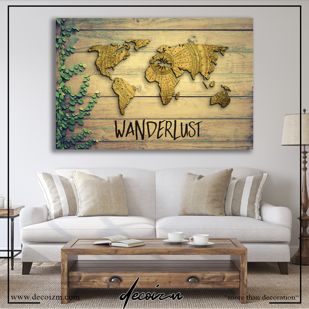 WANDERLUST WORLD MAP